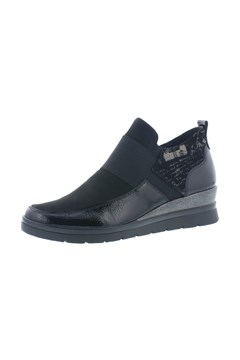 Slip On Wedge Boot BLACK 1