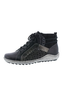 Hightop Lace Up Sneaker BLACK/GREY 1