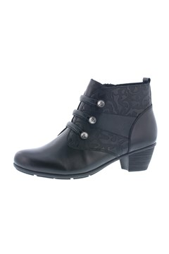 Mid Heel Ankle Boot BLACK 1