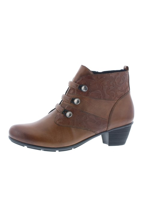 Mid Heel Ankle Boot - brown