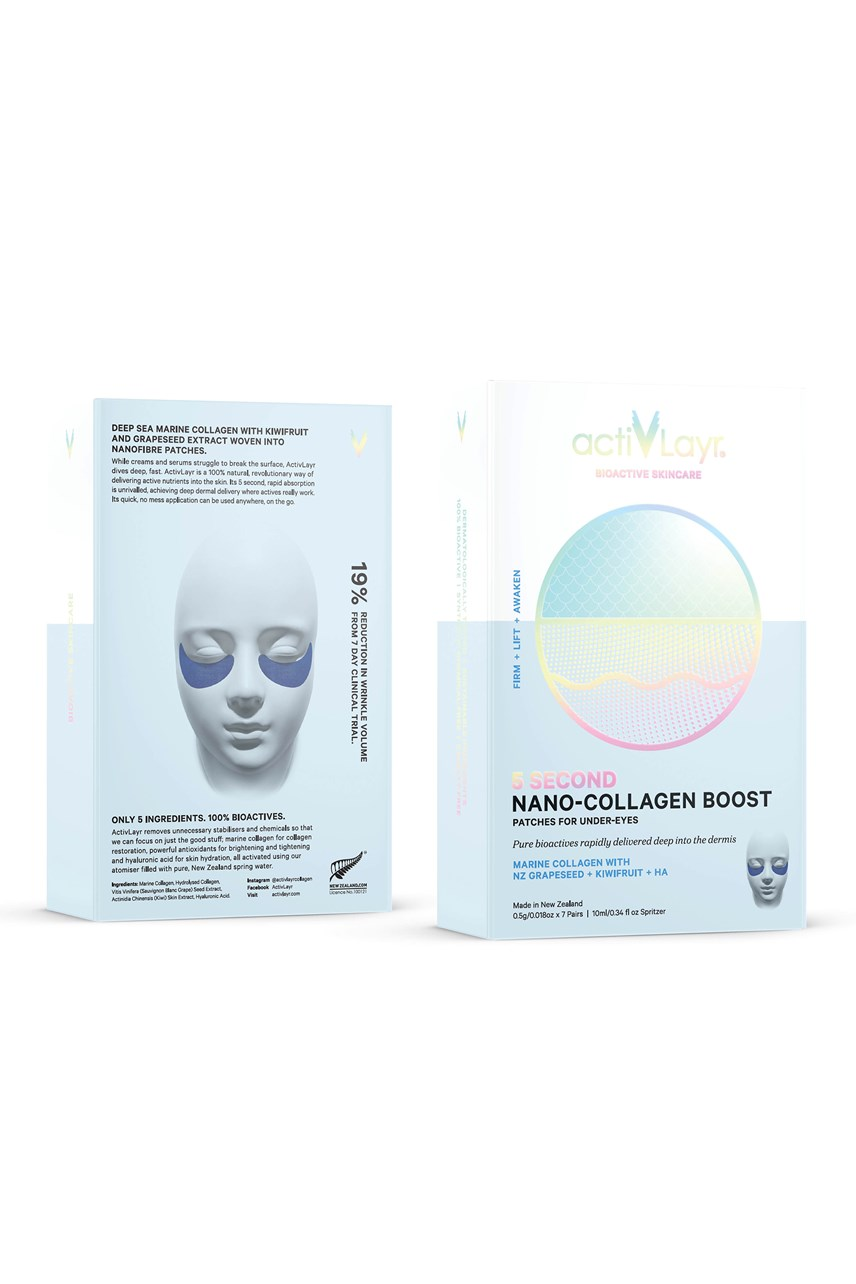 5 Second Nano-Collagen Boost Patches For Under-Eyes - 7 pairs