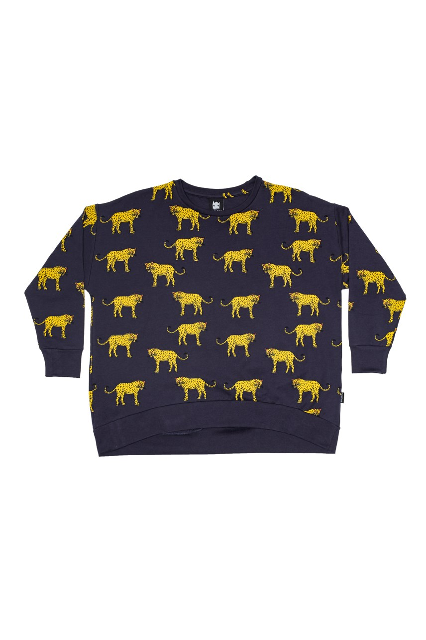 Yellow Cheetah Oversized Crew
