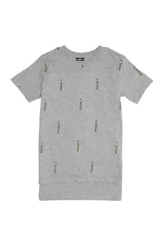 Bandits Matches Repeat Step Hem Tee MARLE GREY 1