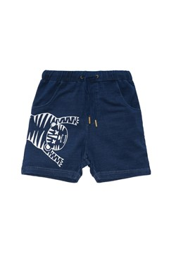 Tiger Outline Track Short - blue denim