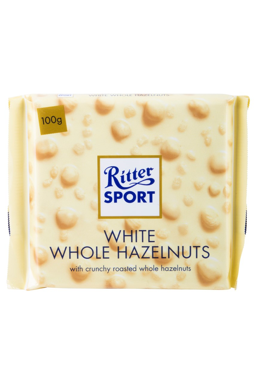 Whole Hazelnuts White Chocolate Tablet