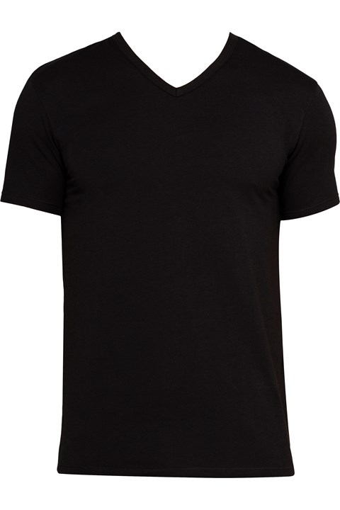 Cotton Stretch V-Neck T-Shirt - b001