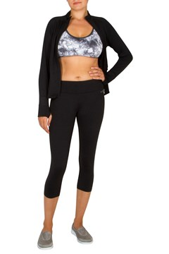 Crop Tight with Back Shirring Black 1