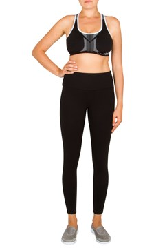 Reversible Seamless Crop Top Black/White 1