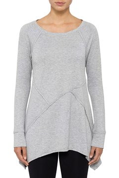 Cross Seam Tunic Pearl Grey Heather 1