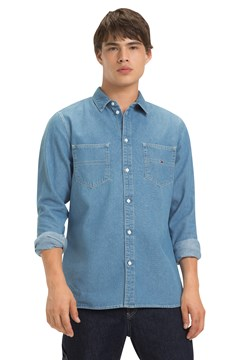 Denim Pocket Shirt 412 MID INDI 1