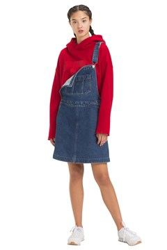 A-Line Dungaree Dress GOUGH MID BL 1