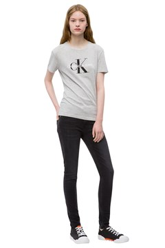 Core Monogram Tee LT GREY 1