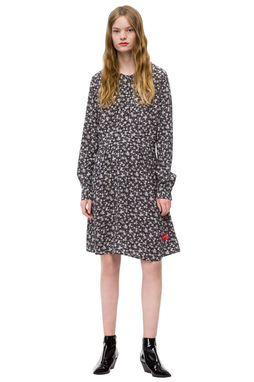 Viscose Ditsy Flower Print Dress