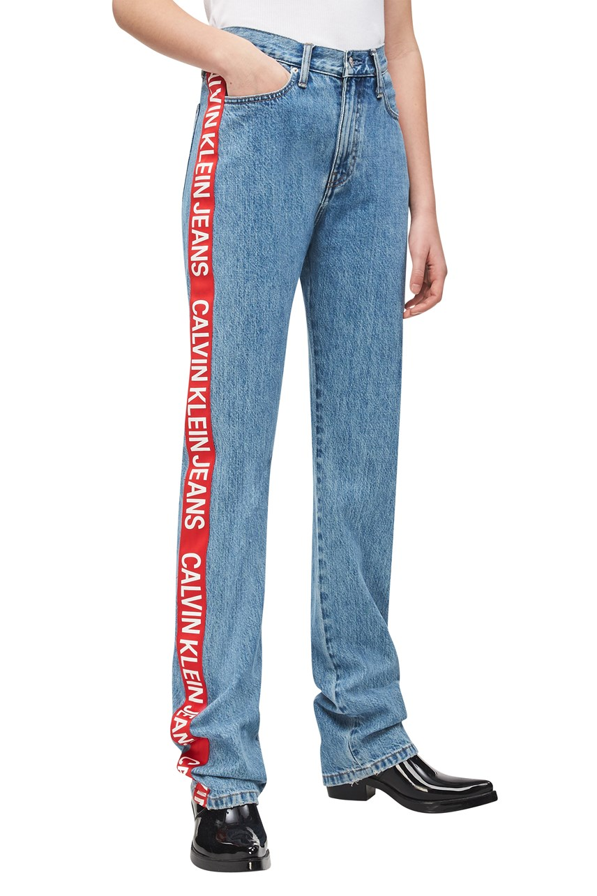 Logo Tape Side Straight Leg Jean