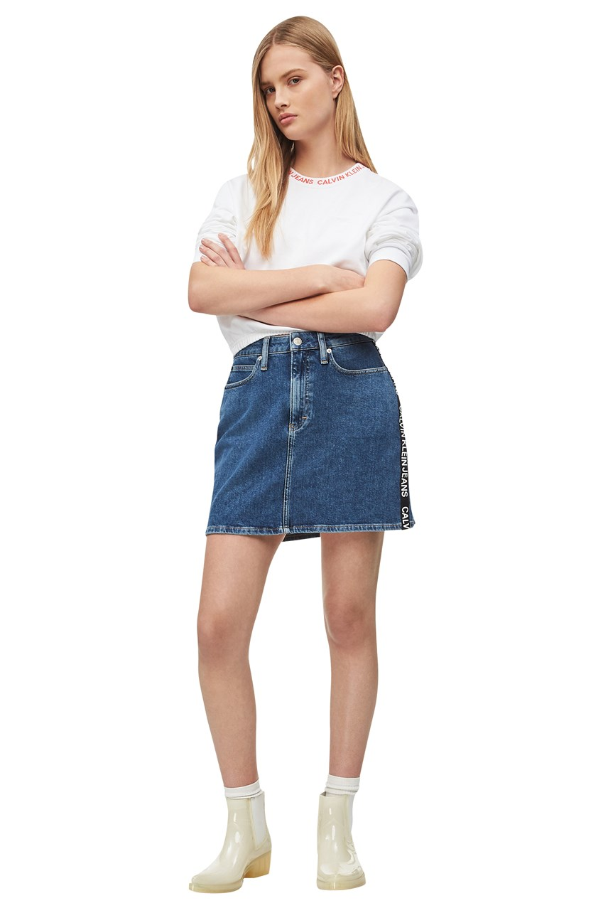 Side Strip Logo Mini Skirt