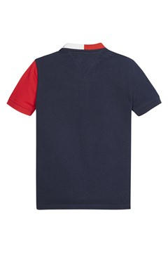 Short Sleeve Polo Shirt - red black