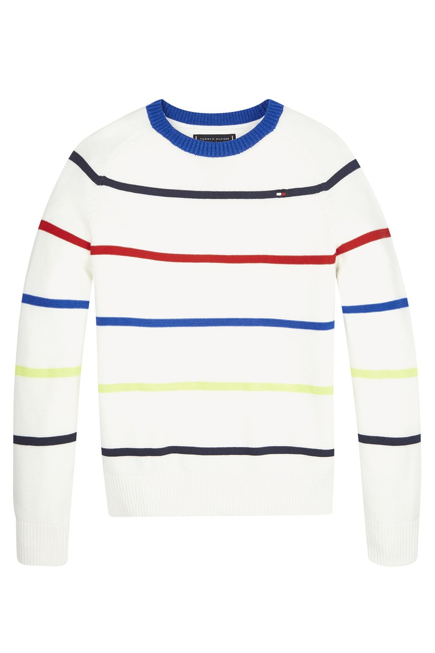 Multicolour Stripe Pure Cotton Jumper