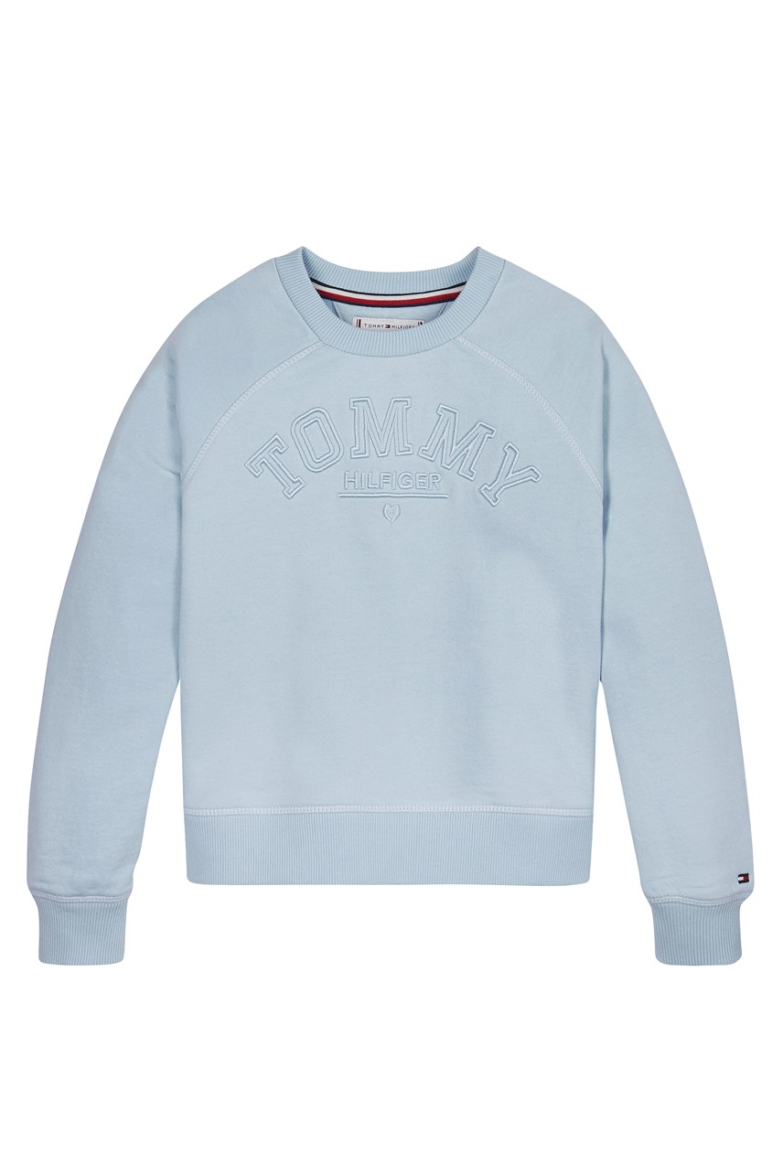 Logo Embroidery Crew Neck Sweatshirt