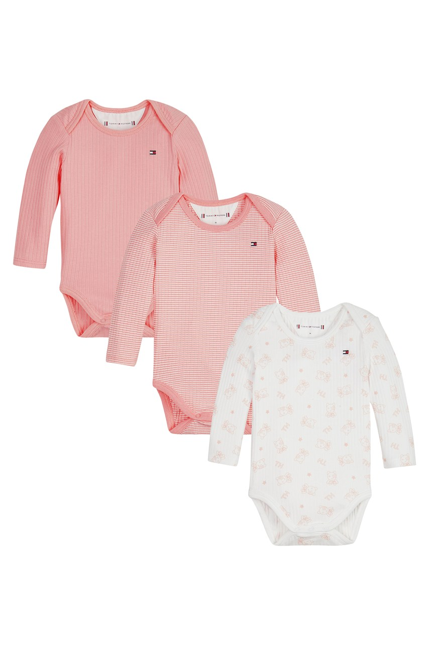 3 Pack Rib Onesie Set