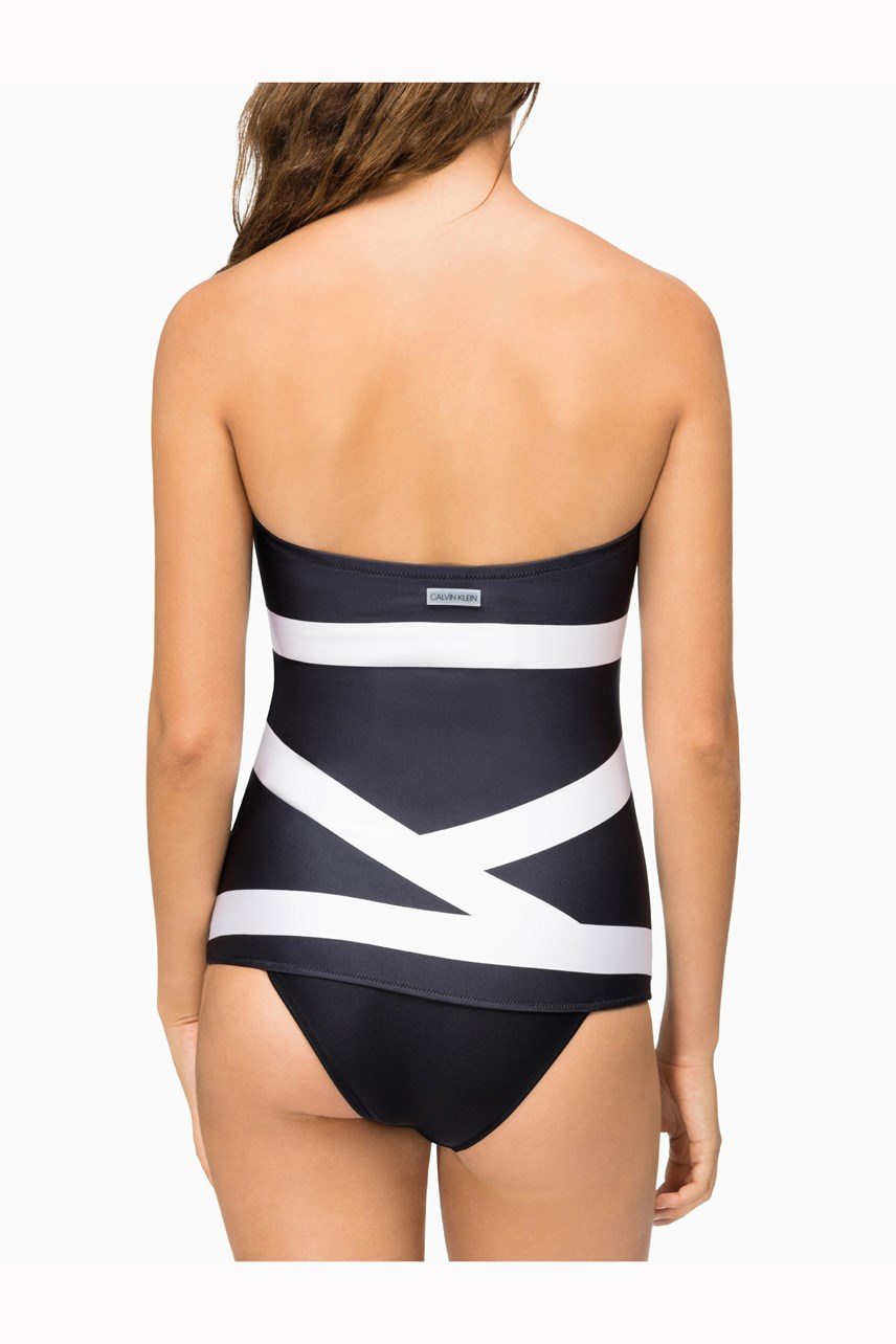 Core Abstract Bandeau Swimsuit