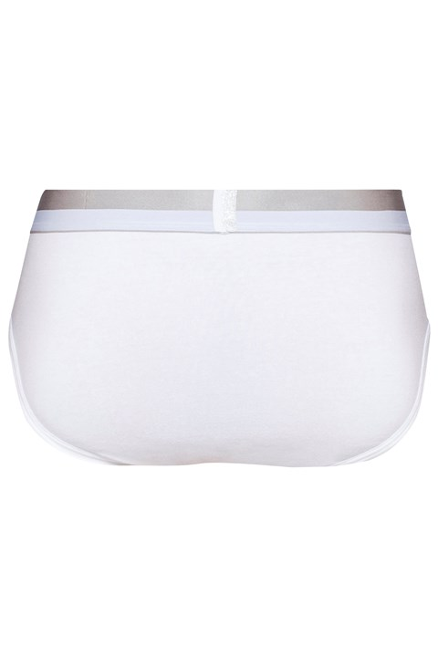 Magnetic Cotton Hip Brief - white