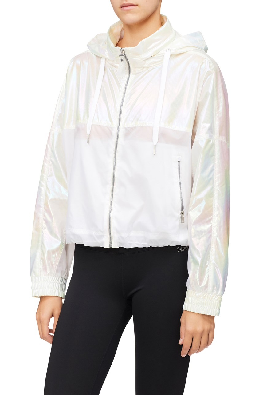 Iridescent Cropped Jacket
