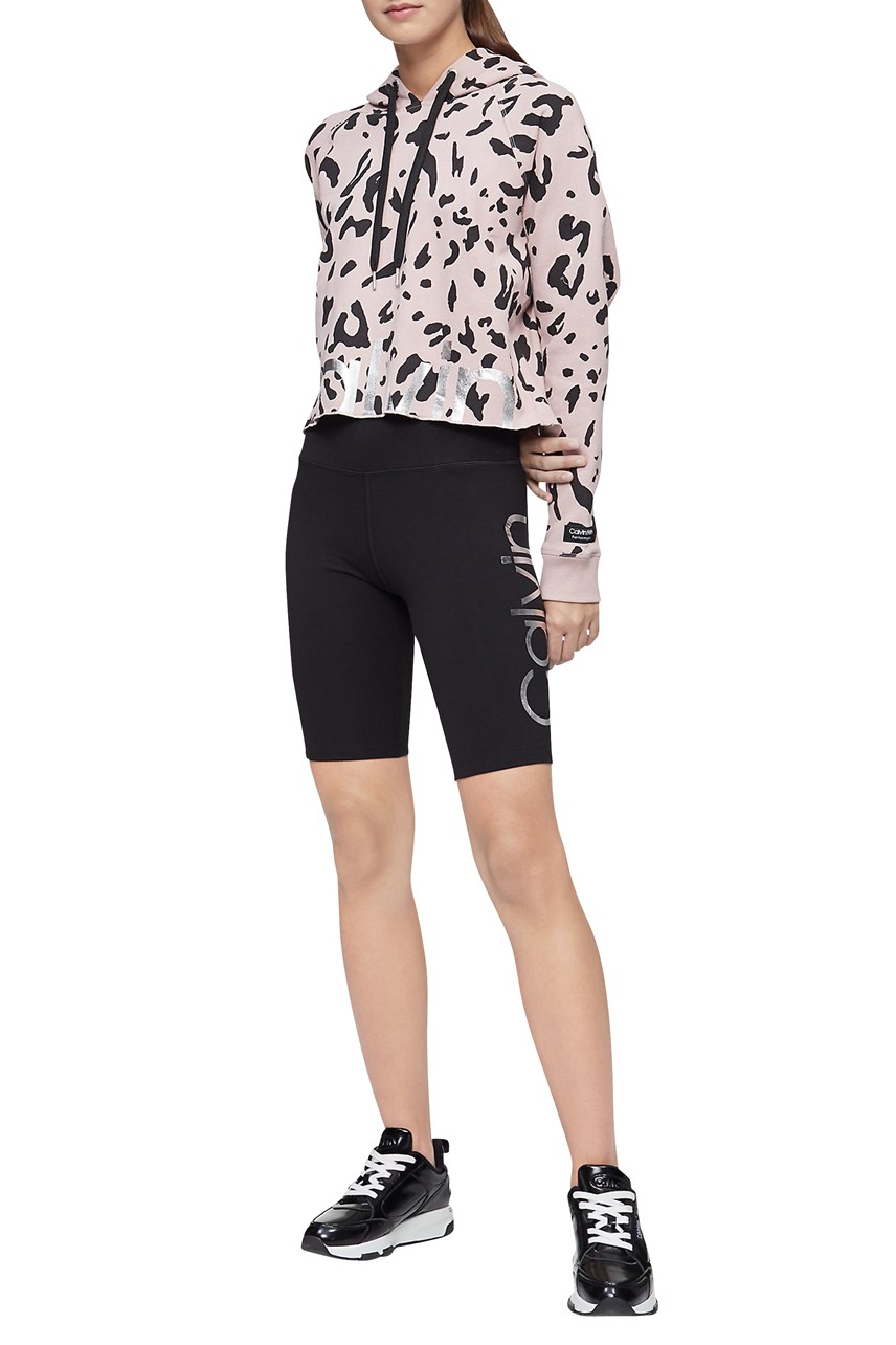 Logo High Waist Bike Shorts