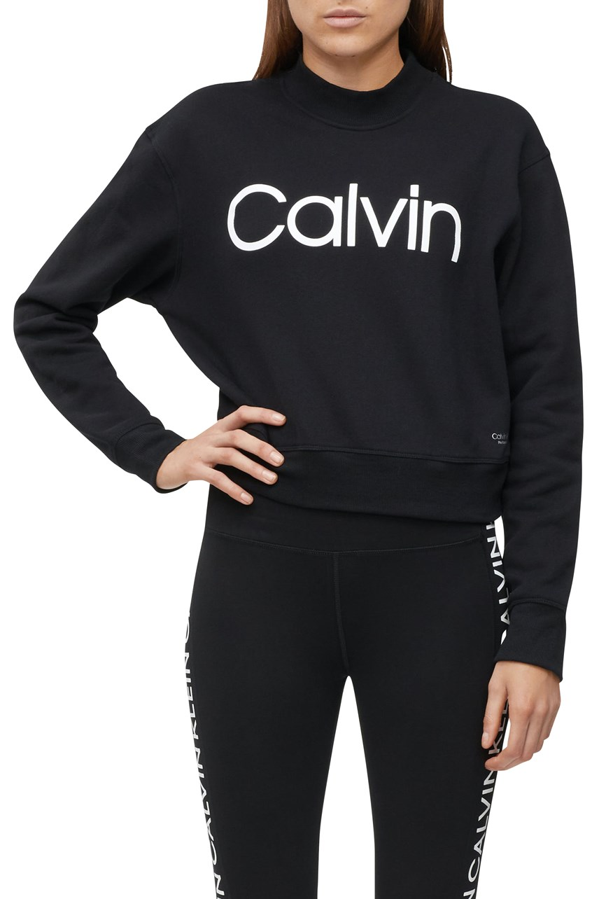 Logo Mock Neck Sweatshirt