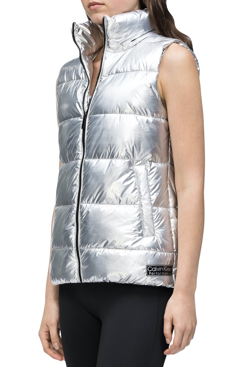 Channel Quilt Vest with Detachable Hood