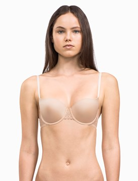Flirty Lightly Lined Balcony Bra - bare
