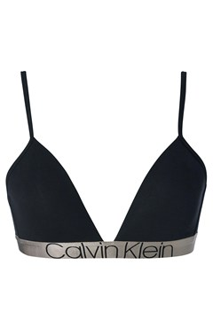 CK Icon Lightly Lined Triangle Bralette - black