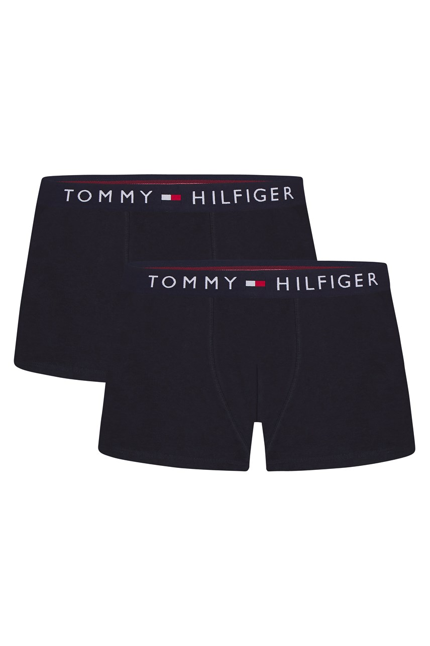 2-Pack Stretch Cotton Logo Waistband Trunks