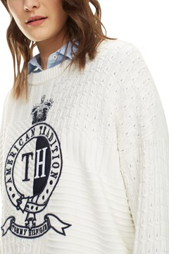 Valoune Crew Neck Sweater - snow white