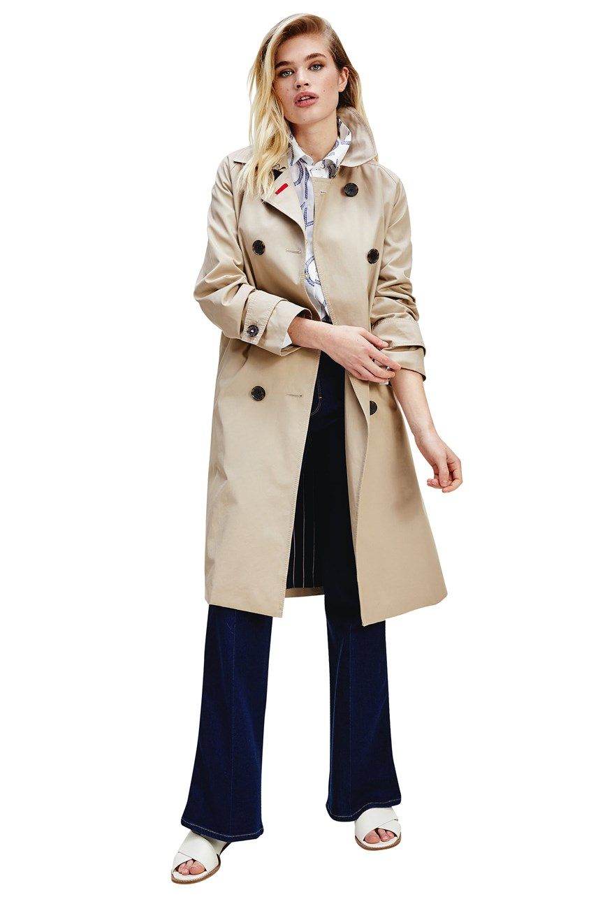 Double Breasted Maxi Trench Coat