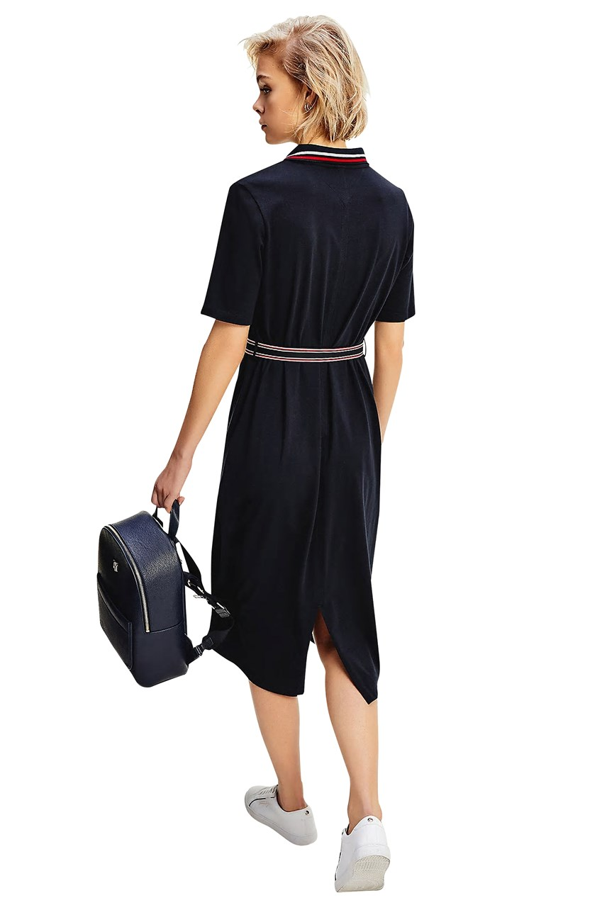 Belted Polo Dress