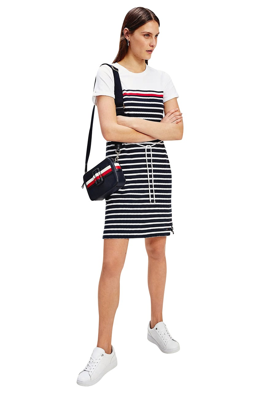 Stripe Crew Neck T-Shirt Dress