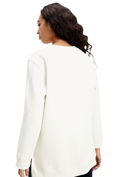 Shield Embroidery Sweatshirt - ecru