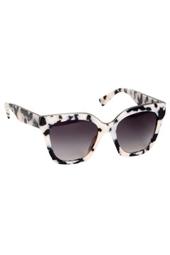 Oversized Twist Sunglasses BLACK/WHITE 1