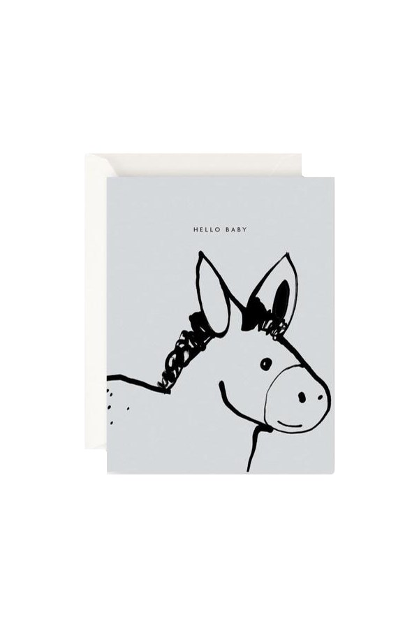 Hello Baby Donkey Card