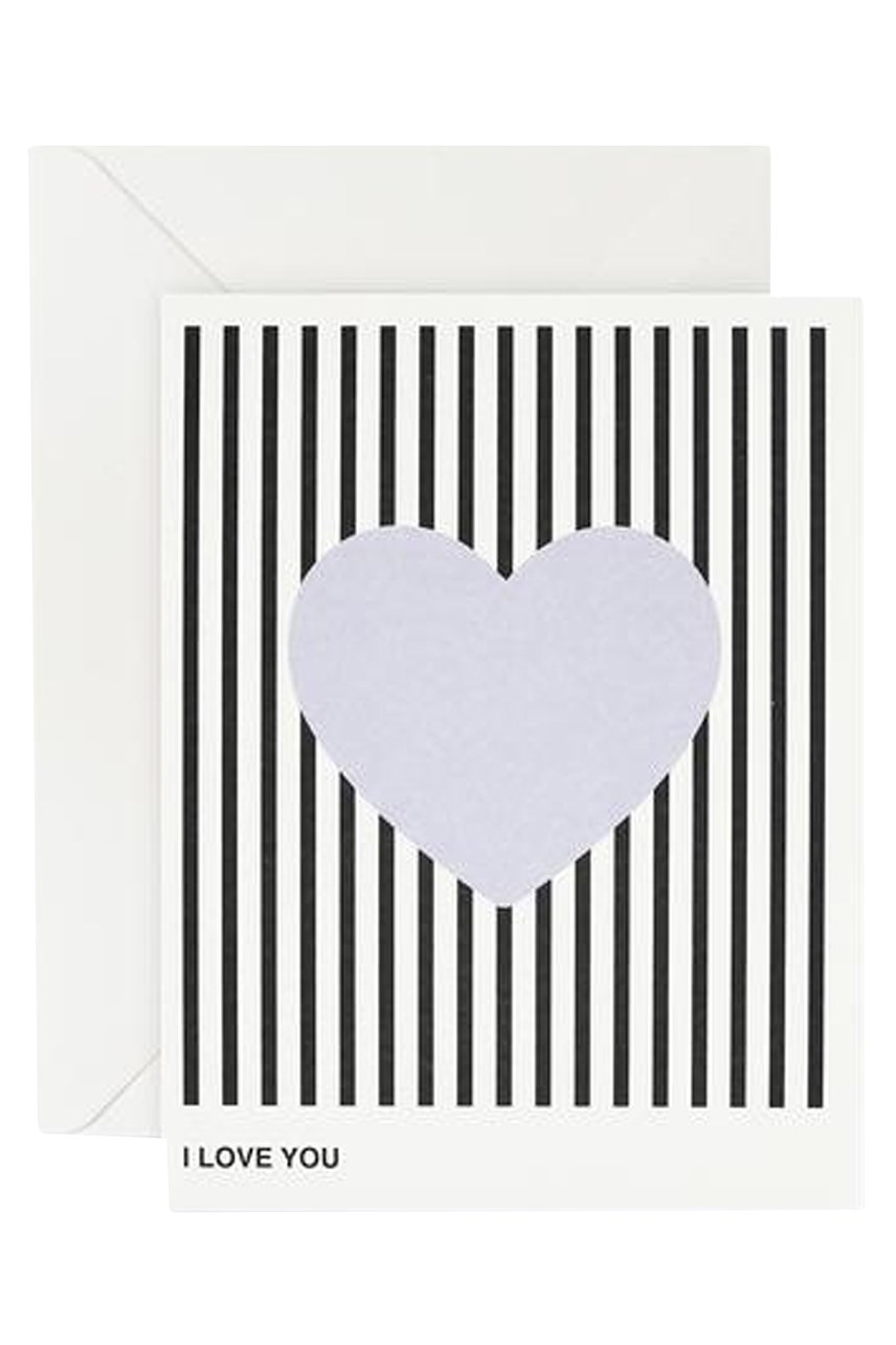 I Love You Lavender Heart Card