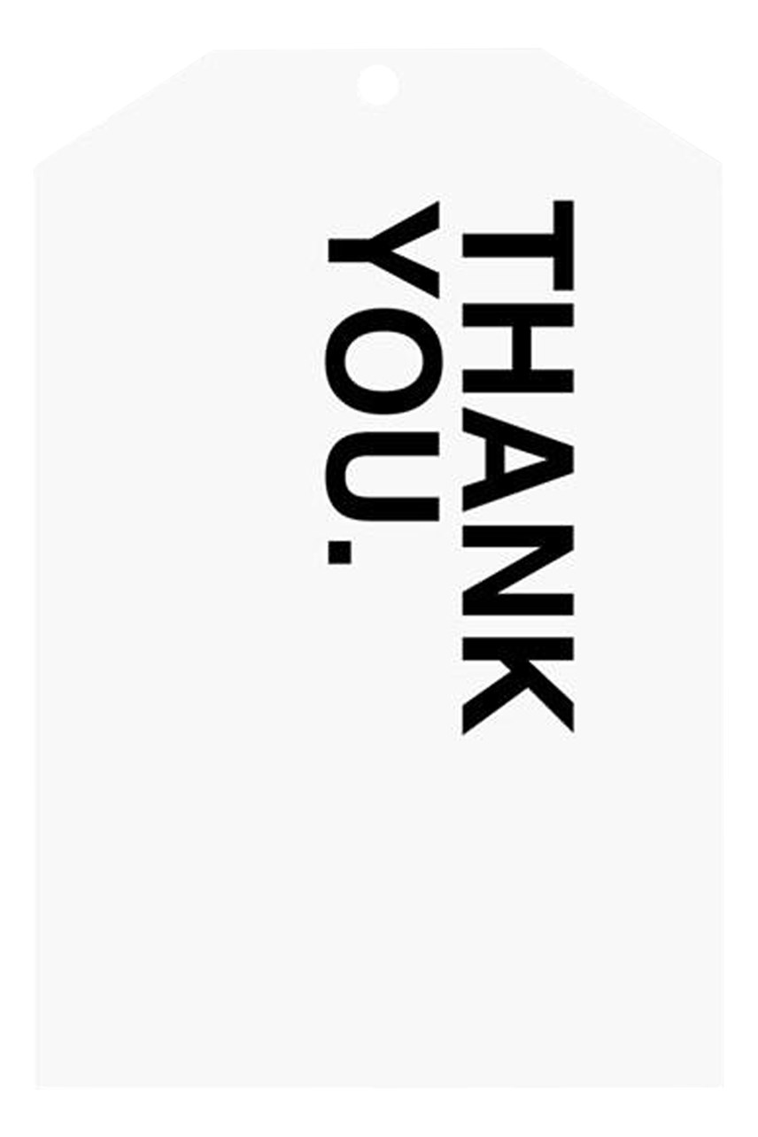 Bold Thank You Gift Tag