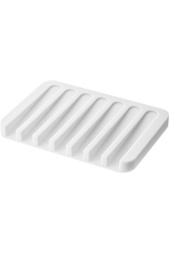 Flow Silicone Soap Tray - white
