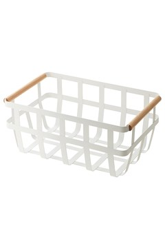 'Tosca' Kitchen Basket Double Handle WHITE 1