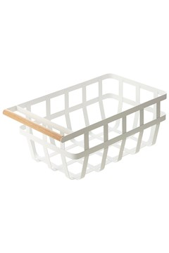 'Tosca' Kitchen Basket Single Handle WHITE 1
