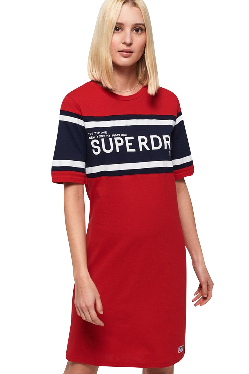 Women's Colour Block T-Shirt Dress