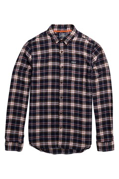 Workwear Longsleeve Shirt A89 NAVY CHECK 1