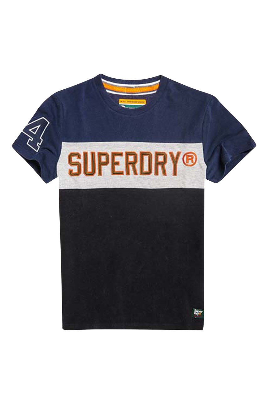 Men's Applique Colour Block Tee