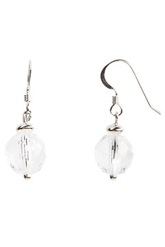 Faceted Glass Drop Earrings CRYSTAL 1