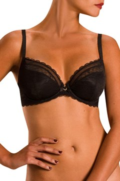 C Chic Sexy 2 Part Underwire Bra Black 1