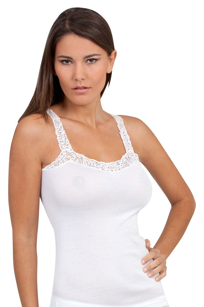 Camisole with Guipure Motif